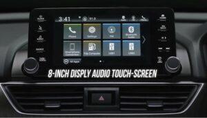 10th generation Honda Accord sedan infotainment screen view