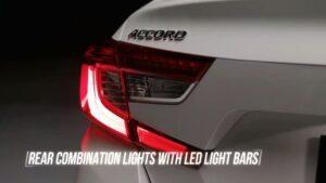 10th generation Honda Accord sedan tail lights close view