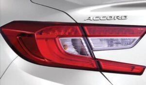 10th generation Honda Accord sedan tail lights view