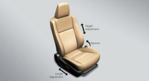 11th generation Toyota corolla Altis Grande adjustable seat