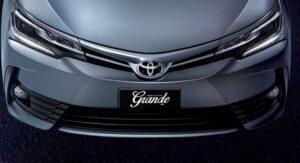 11th generation Toyota corolla Altis Grande front close view