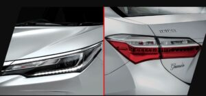11th generation Toyota corolla Altis Grande headlamps and tail lights