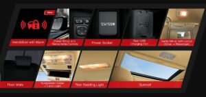 11th generation Toyota corolla Altis Grande other interior features2