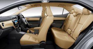 11th generation Toyota corolla Altis Grande sedan full interior view