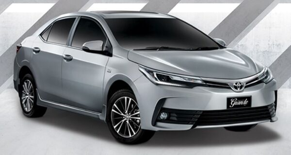 11th generation Toyota corolla Altis Grande sedan title image