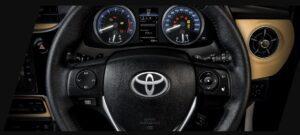 11th generation Toyota corolla Altis Grande steering wheel view