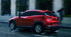 1st Generation Mazda CX3 beautiful View in Rain