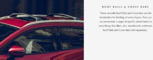 1st Generation Mazda CX3 roof rails and cross bars