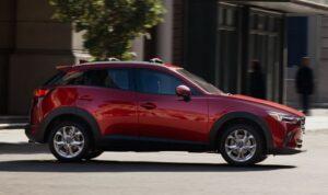 1st Generation Mazda CX3 suv full side view