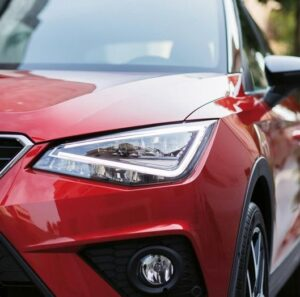 1st generation seat arona crossover headlamps close view