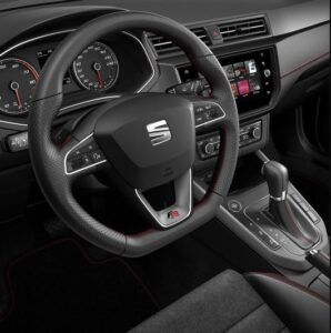 1st generation seat arona crossover steering wheel and controls close view