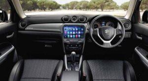 4th Generation Suzuki Vitara SUV front cabin interior view