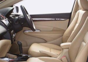 5th Generation Honda City Sedan front seats view