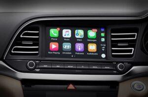 6th Generation Hyundai Elantra infotainment screen