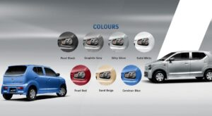 8th Generation Suzuki Alto Hatchback all Colors