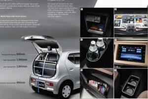 8th Generation Suzuki Alto Hatchback interior features