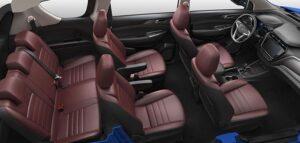 1st generation Changan A800 MPV full interior cabin view