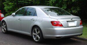 1st generation Toyota Mark X Sedan Side Rear View