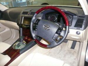 1st generation Toyota Mark X Sedan front cabin interior view