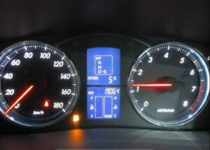 1st generation toyota mark x instrument cluster view