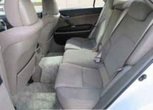 1st generation toyota mark x rear seats view