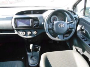 3rd Generation facelifted toyota vitz hatchback front cabin interior view