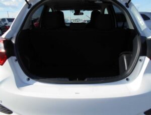 3rd Generation facelifted toyota vitz hatchback luggage area view