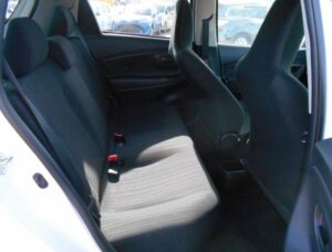 3rd Generation facelifted toyota vitz hatchback rear seats view