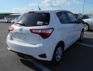 3rd Generation facelifted toyota vitz hatchback rear view