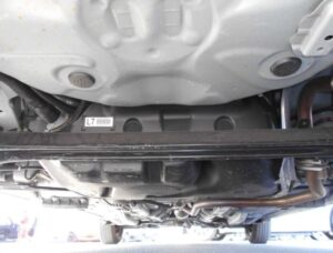 3rd Generation facelifted toyota vitz hatchback view from below