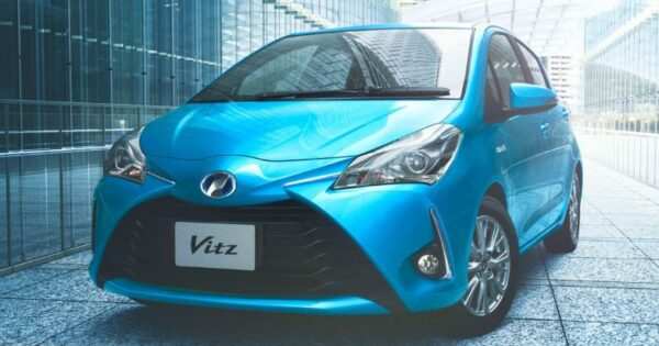 3rd Generation facelifted toyota vitz title image