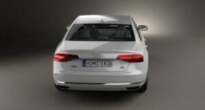 3rd generation facelift audi A8 L beautiful full rear view