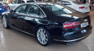3rd generation facelift audi A8 L black rear view