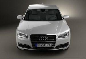 3rd generation facelift audi A8 L front close view
