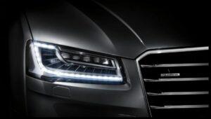 3rd generation facelift audi A8 L front led headlamps