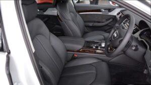 3rd generation facelift audi A8 L front seats view