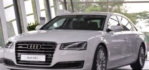 3rd generation facelift audi A8 L front side view