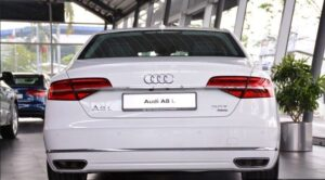 3rd generation facelift audi A8 L full rear view
