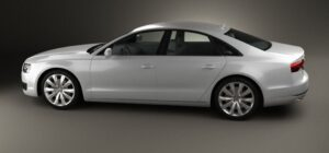 3rd generation facelift audi A8 L full side view