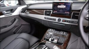 3rd generation facelift audi A8 L infotainment screen and other controls