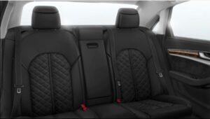 3rd generation facelift audi A8 L rear seats black