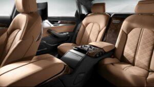 3rd generation facelift audi A8 L rear seats view 2