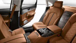3rd generation facelift audi A8 L rear seats view 3