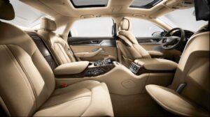 3rd generation facelift audi A8 L rear seats view