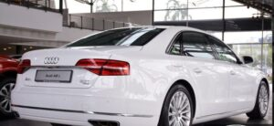 3rd generation facelift audi A8 L side rear view