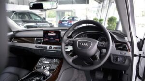 3rd generation facelift audi A8 L steering wheel and controls