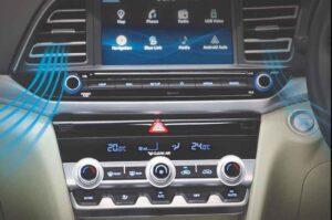 6th generation hyundai elantra sedan pakistan audio control and infotainment screen view