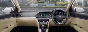 6th generation hyundai elantra sedan pakistan front cabin interior view