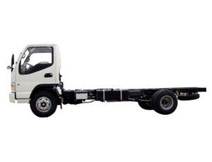 JAC HFC 1020k Medium Pickup truck deckless full side view