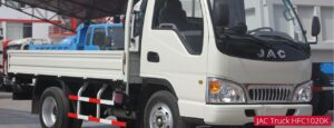 JAC HFC 1020k Medium Pickup truck headlamps and front close view
